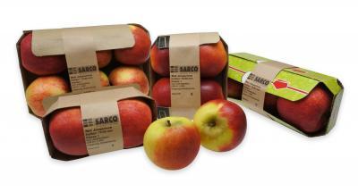 Appels in kartonnen verpakking