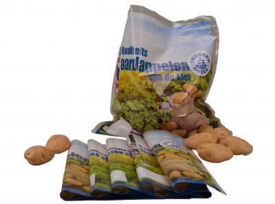 Haaf PE aardappelzakken van de rol