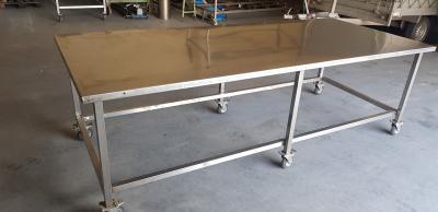 RVS werktafel 280 x 120 x 90 cm