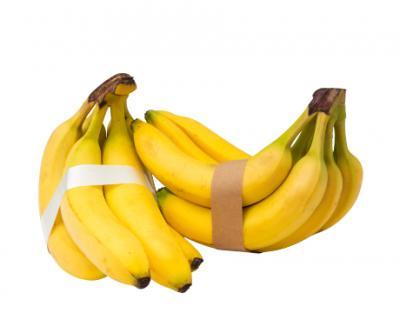 Bananen gebundeld met banderol
