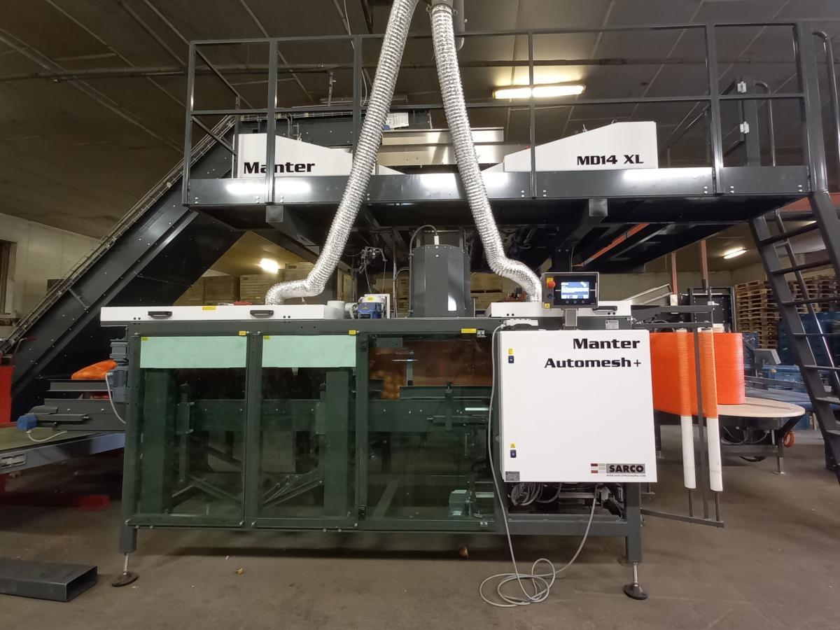 Manter Automesh verpakkingsmachine netzakken van de rol