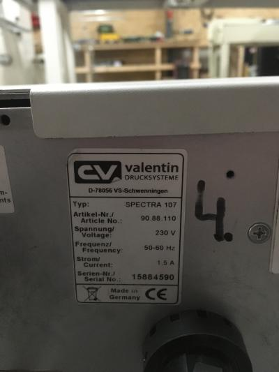 Valentin Printer spectra 107.4