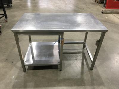RVS werktafel 80x140x90 cm