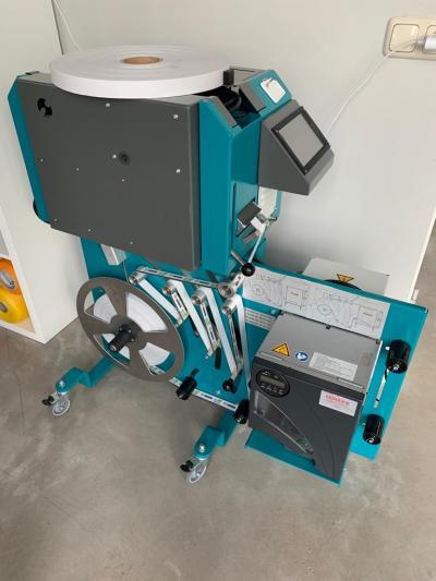 Optioneel: Banderolleermachine met printer