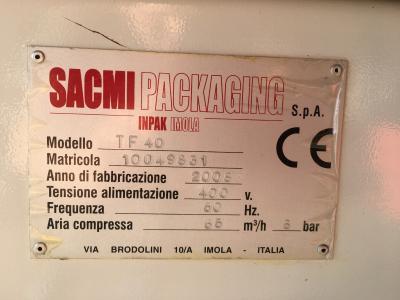 Sacmi TF40 opzetter en TS43 stapelaar.7