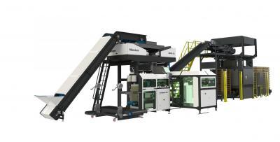 Complete verpakkingslijn Manter en Solidtec palletiseermachine
